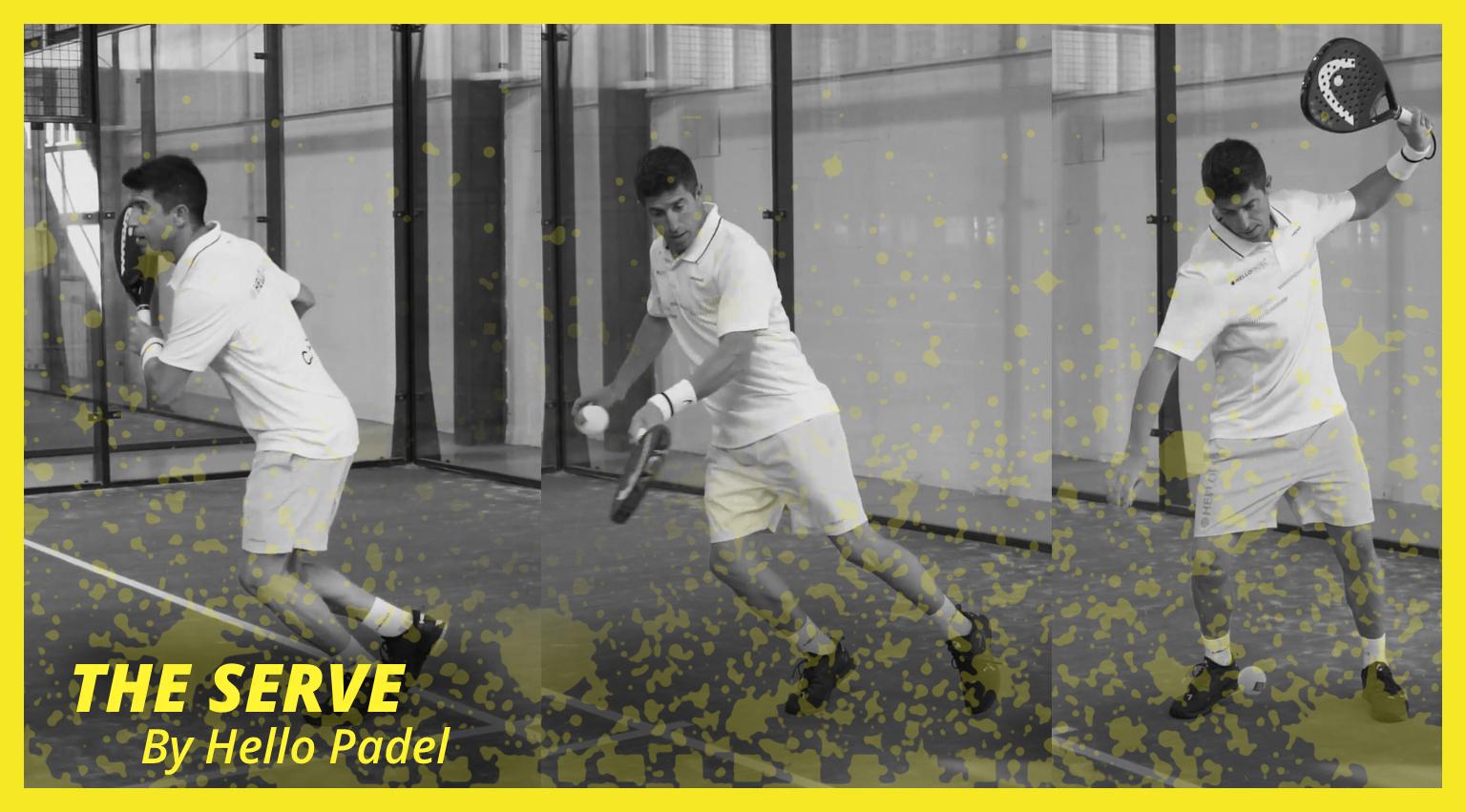 The serve in Padel